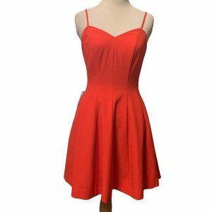 Bebe deep orange fully lined dress, with POCKETS